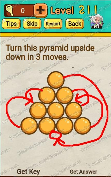 The Answer To Level 211 212 213 214 215 216 217 218 219 And 220 Is Mr Brain Trick Puzzle Game Brain Game Master