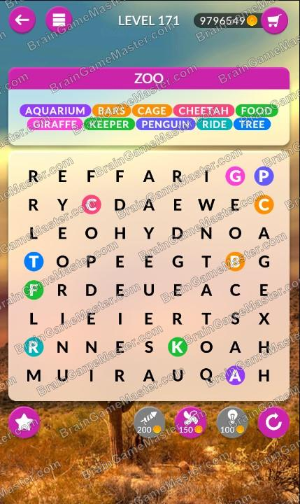 Wordpscape Search Answers At Levels 171 172 173 174 175 176 177 178 179 180 Brain Game Master