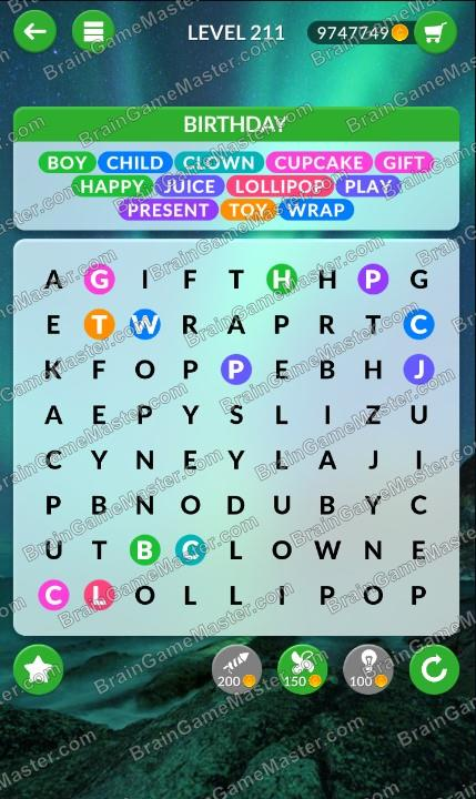 Wordpscape Search Answers At Levels 211 212 213 214 215 216 217 218 219 220 Brain Game Master