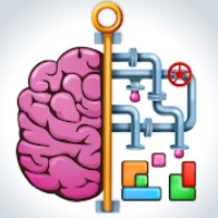 The answer to level 1, 2, 3, 4, 5, 6, 7, 8, 9 and 10 is game Brain Puzzle - Easy peazy IQ game